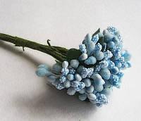 Декоративные веточки облепихи 10-12 шт/уп. голубого цвета, фото 1