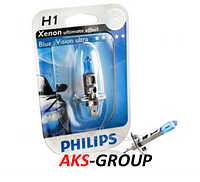 Автолампа PHILIPS H1 Blue Vision Ultra BP 12V 55W - 12258BVUB1