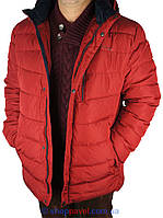 Чоловіча зимова куртка Malidinu в бордовому кольорі М-15869-З 5H#