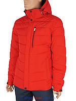 Стильна зимова чоловіча куртка Malidinu М-15869-С 5L# червоного кольору