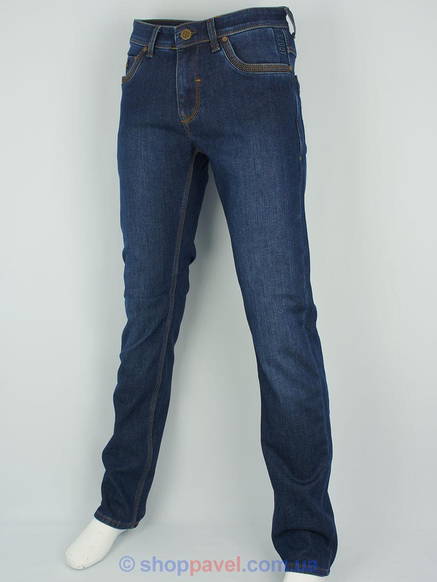 Чоловічі джинси X-Foot 2103 в синьому кольорі на флісі