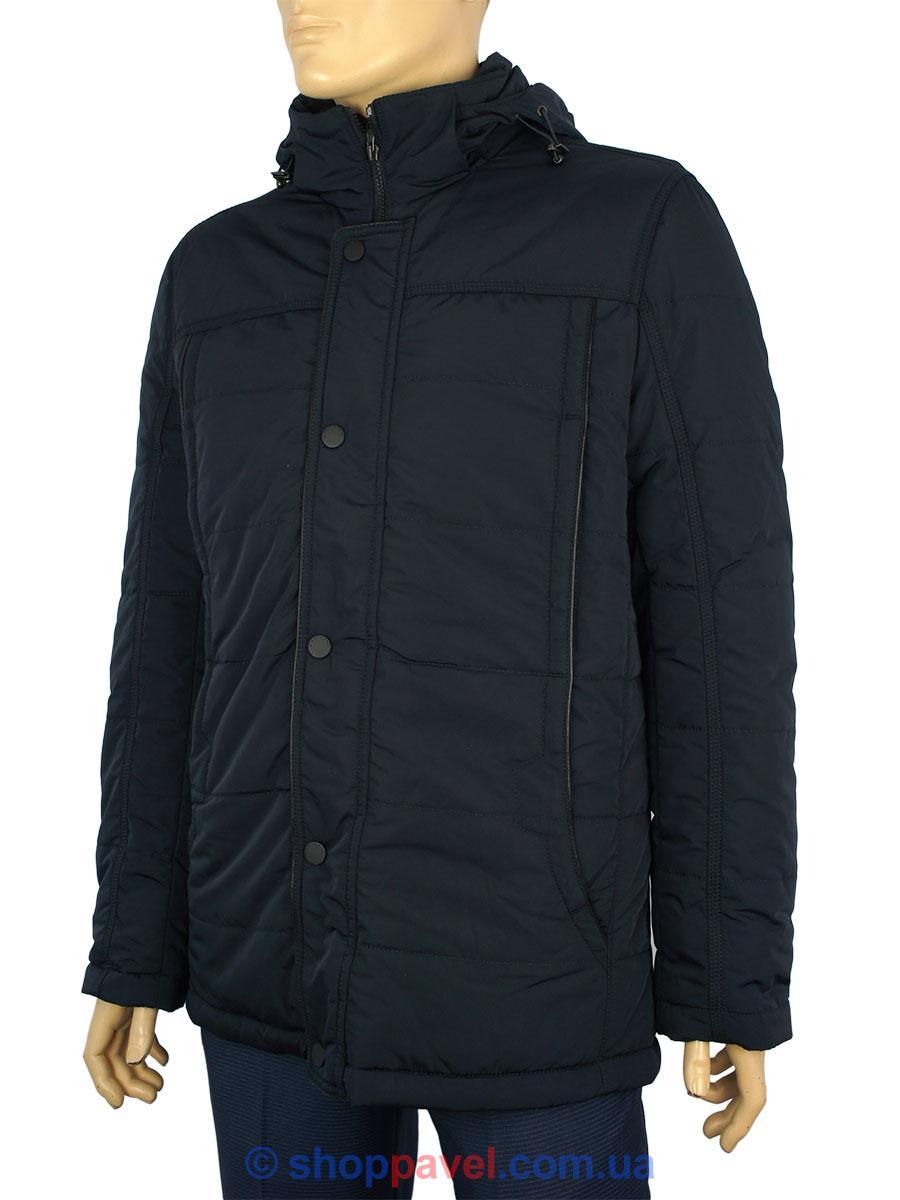 Чоловіча зимова куртка з капюшоном Santoryo WK7562 H темно-синього кольору