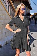 Платье-рубашка со свободной юбкой модель --- (ВИВ)