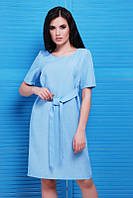 Голубое женское платье Silvia FashionUp 42-48  размеры
