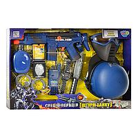 Игровой набор для мальчиков Набор военный автомат, пистолет, бинокль, рация, часы, фляга, граната, свисток, ко