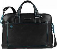 Солидный мужской портфель из натуральной кожи Piquadro BL SQUARE/Black, CA3335B2_N черный