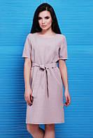 Бежевое женское платье Silvia FashionUp 42-48  размеры