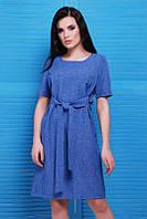 Синее женское платье Silvia FashionUp 42-48  размеры