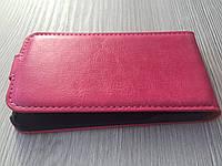 Чехол книжка для Iphone 4/4s розовая на магните