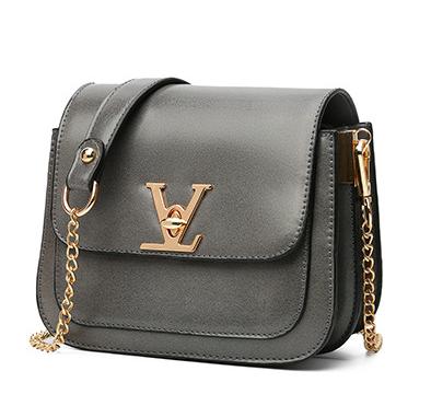 Сумка женская через плечо в стиле Vuitton Classic Серый