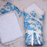 Конверт-одеяло на выписку для новорожденных с подушками, Olivier