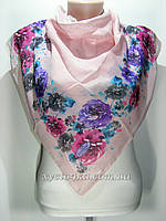 Лёгкий платок на натуральной основе Флора, розовый