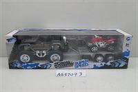 Машина инерц. с прицепом и  квадроциклом, в кор. 50*16*16см, (30шт)