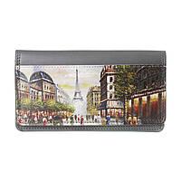 """Изысканный кожаный кошелек """"Париж"""" на подарок"""