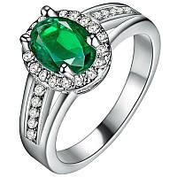 Кольцо с зеленым камнем (18 р.)  10080
