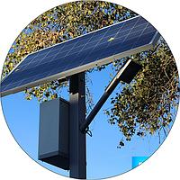 Автономный уличный светильник 60 Вт. с датчиком движения