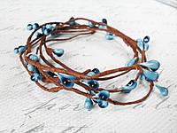 Декоративная веточка с голубыми тычинками, фото 1