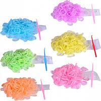 """Резиночки для плетения фенечек флуоресцентные """"mix"""""""