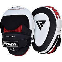Лапы боксерские кожаные RDX Gel Focus.  Белый