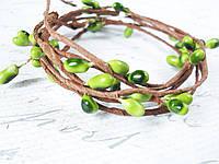 Декоративная веточка с тычинками зеленого цвета, фото 1
