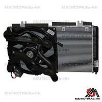 Радіатор основний з кондиціонером Panasonic в зборі ВАЗ 1117, ВАЗ 1118, ВАЗ 1119 Калина