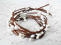 Декоративная веточка с тычинками, 10 шт/уп., белого цвета, фото 1