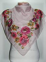 Лёгкий платок на натуральной основе Флора, пудра