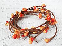 Декоративная веточка с тычинками оранжевого цвета, фото 1