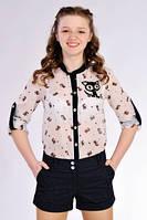 Стильная блузка для девочки