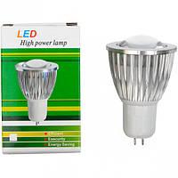 Лампа LED глазок 5W холодный 50*68мм