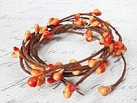 Тычинки на веточке  оранжевого цвета, фото 1