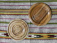 Сувенірна дерев'яна тарілка різьбленна в асортименті 23-25 см
