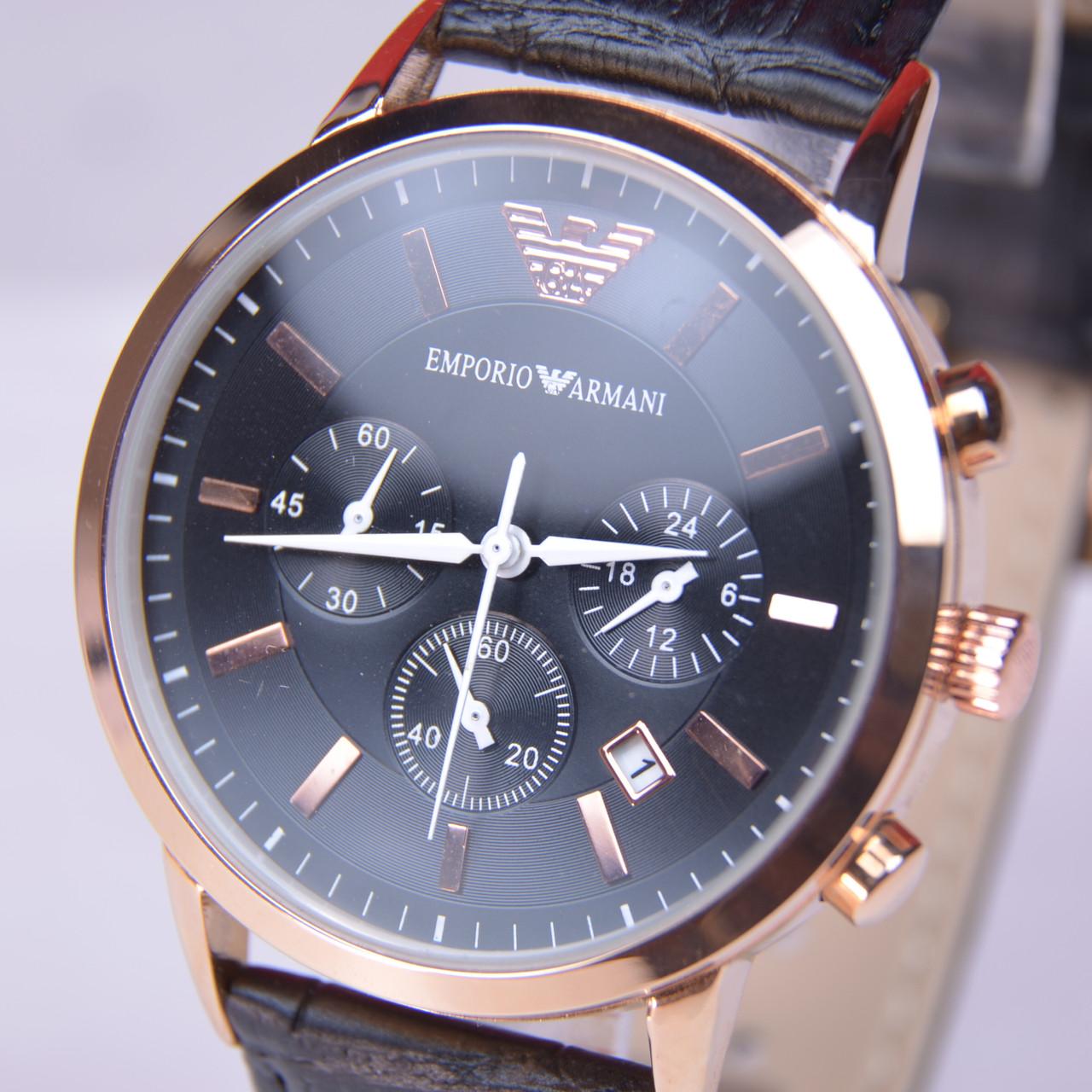 Мужские наручные часы  Emporio Armani AR-249G Gold с хронографом (копия), фото 1