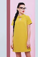 Женское горчичное платье Нежность FashionUp 42-48  размеры