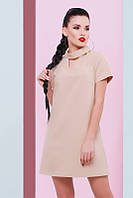 Женское бежевое платье Нежность FashionUp 42-48  размеры