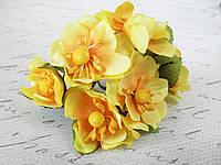 Яблоневый цвет диаметр 4 см желтого цвета, фото 1