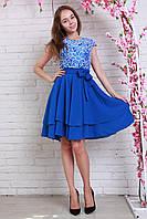 Платье Алекс из гипюра+креп-шифон, размер 44-46