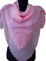 Платок F торжество 100х100, розовый