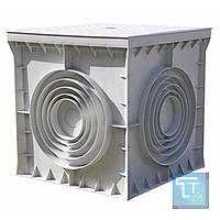Колодец кабельный пластиковый e.manhole.550.550.500.cover, 550х550х500мм с крышкой, E.Next