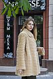 Шуба полушубок из бобра цвета какао  Sheared beaver fur coat fur-coat, фото 2