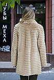 Шуба полушубок из бобра цвета какао  Sheared beaver fur coat fur-coat, фото 3