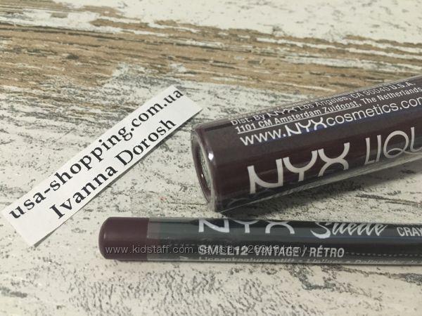 Матовый карандаш для губ NYX Vintage