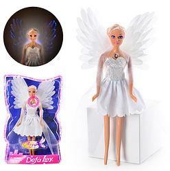 Кукла DEFA 8219 (48шт) ангел, свет, в слюде, 33-21