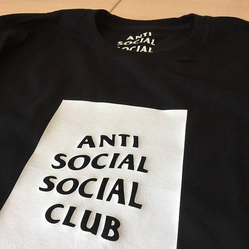 ASSC Черная футболка Anti Social Social Club