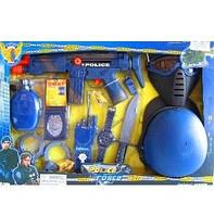 Набор полиции 33550 (12шт) маска, пистолет, бинокль, автомат трещетка, в кор-ке, 59-40-6см