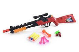 Ружьё 21-19 (144шт) мягкие пули, присоски, в кульке, 57-12-3,5см