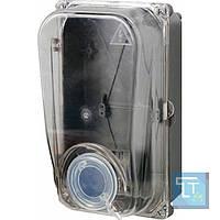 Шкаф пластиковый e.mbox.stand.plastic.n.f1.прозр. под однофазный счетчик, навесной, с комплектом метизов, E.Next