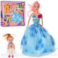Кукла с нарядом D22-2 (48шт) 28см, с дочкой 10см, в кор-ке, 38-33-5,5см