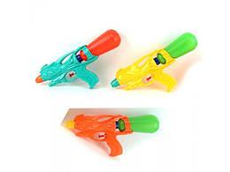Водяной пистолет  M 0177 (72шт) размер средний, 29,5см, 3 цвета, в кульке, 29,5-13,5-5см