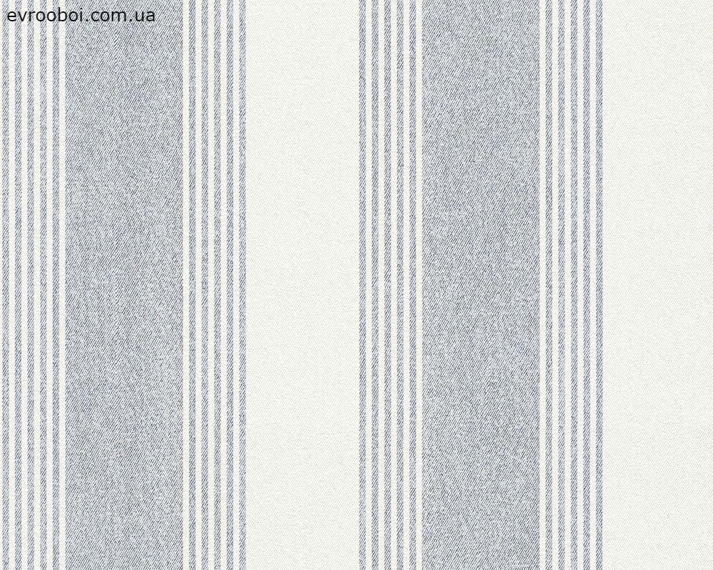 Обои под джинсовую ткань полосатые 276032.